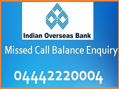 Indian Overseas Bank Account Balance Check at IOB official website