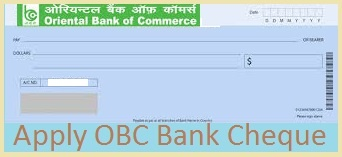 OBC bank Cheque Book