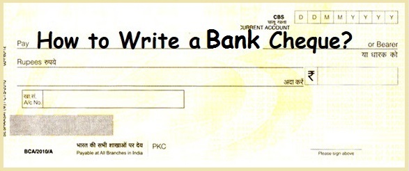 Write Bank Cheque Correctly