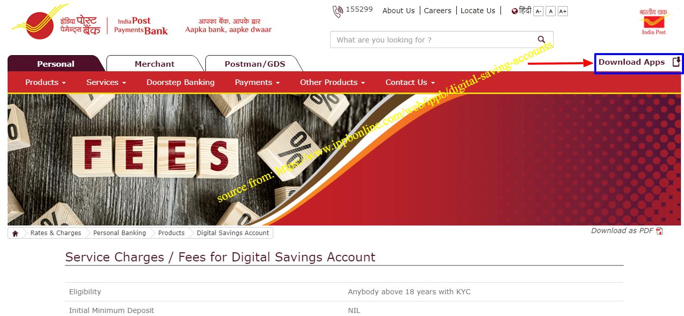 IPPB Account open online