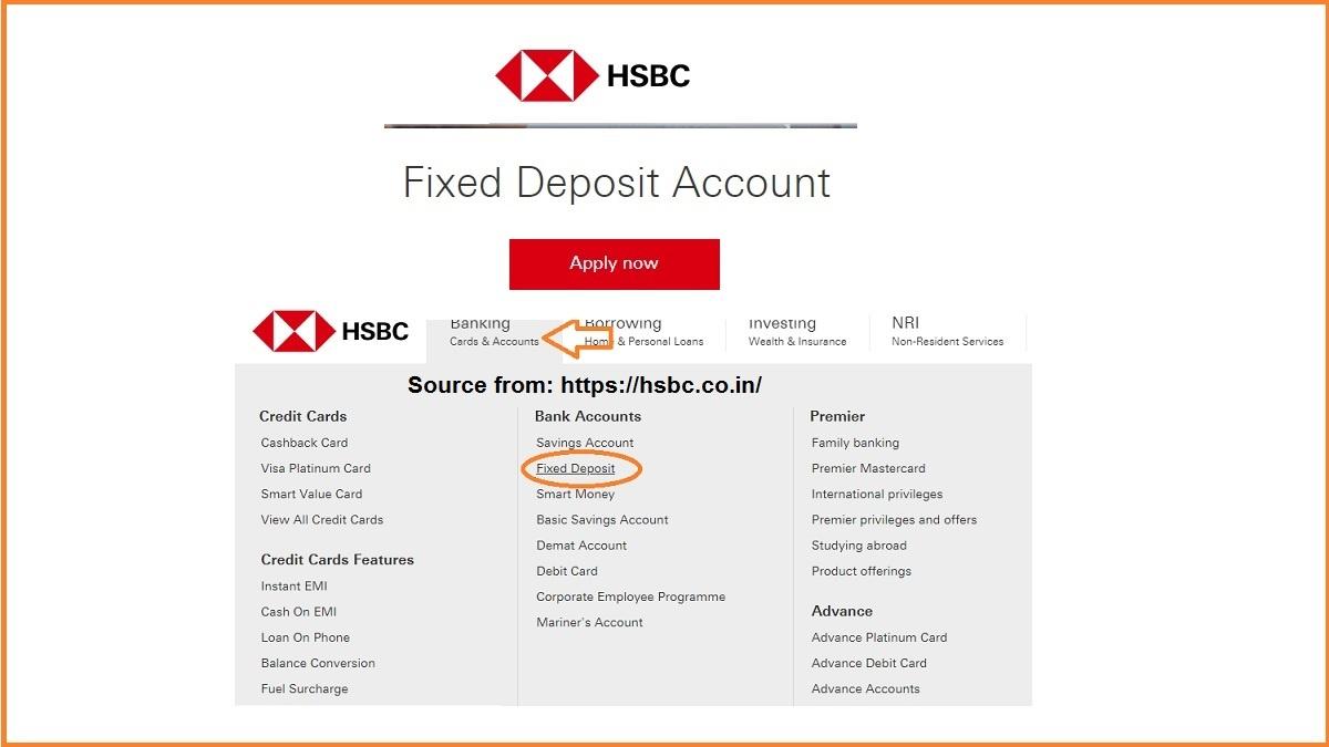 HSBC FD Account Online