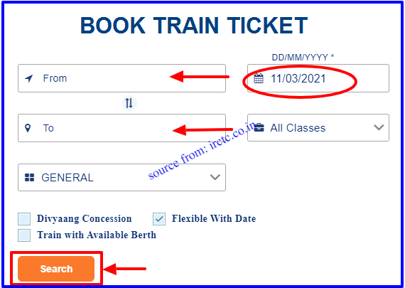 IRCTC Advance Train Ticket Booking through online