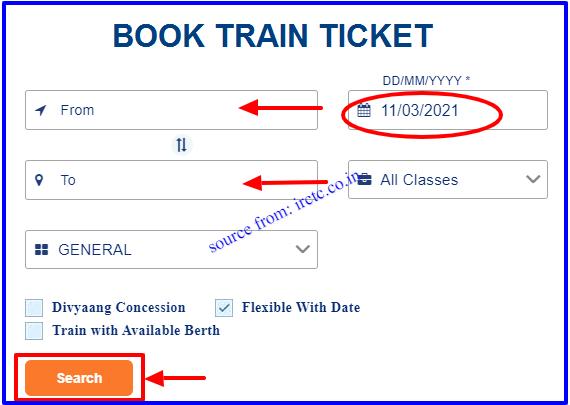 IRCTC Advance Train Ticket Booking through online